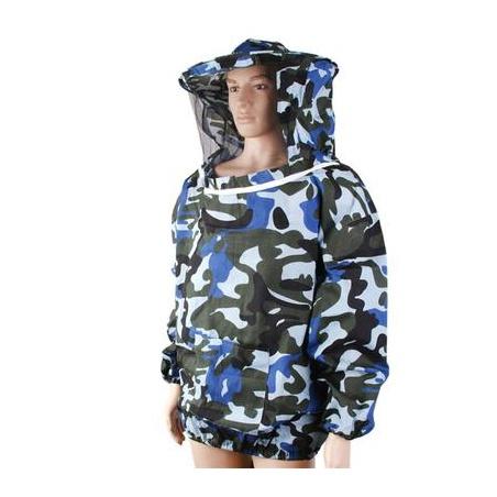 Včelařská bunda s kloboukem maskáčová