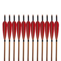 """Šíp bambusový do luku 33""""8mm x 85cm krocaní peří (1)"""