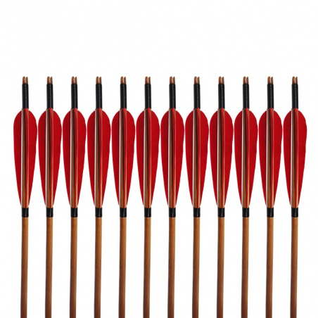 """Šíp bambusový do luku 33""""8mm x 85cm krocaní peří"""