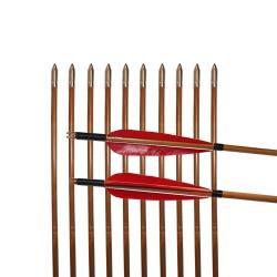 """Šíp bambusový do luku 33""""8mm x 85cm krocaní peří(2)"""