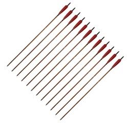 """Šíp bambusový do luku 33""""8mm x 85cm krocaní peří(3)"""