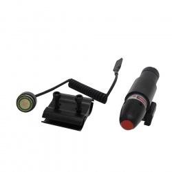 Laserový zaměřovač červený s dálkovou tlakovou spouští (4)