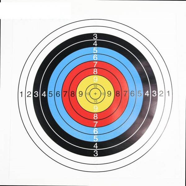 Papírový terč pro střelbu z kuší a luků 60x60