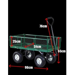 Zahradní vozík GEKO rozměry