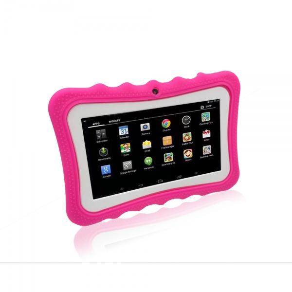 """Tablet dětský Alík 7"""" silikonové pouzdro 1GB/16GB Android růžový"""