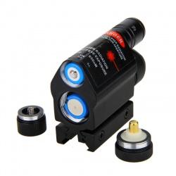 Taktická svítilna s laserem na 11mm a 22mm (2)