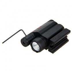 Taktická svítilna s laserem na 11mm a 22mm (3)