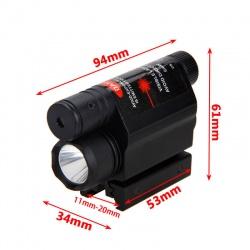 Taktická svítilna s laserem na 11mm a 22mm (4)