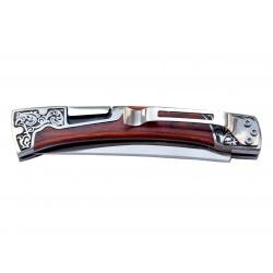 Lovecký nůž zavírací rosewood s pryskyřicí
