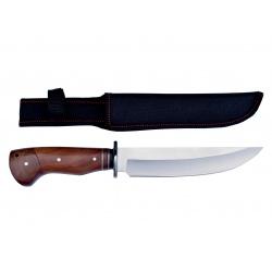 Lovecký nůž rosewood Gold stripe 2 s nylonovým pouzdrem