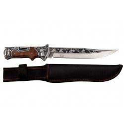 Lovecký nůž zavírací rosewood Diablo s nylonovým pouzdrem (2)