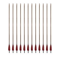 """Šíp bambusový do luku 33""""8mm x 85cm krocaní peří (4)"""