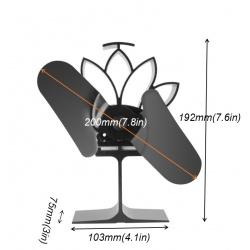 Ventilátor na kamna rozměry
