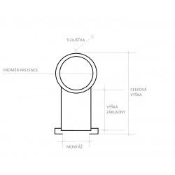 Laserový zaměřovač ukazovátko Kandar červené 9/11/22mm