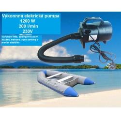 Vysokotlaká elektrická vzduchová pumpa kompresor 1200W 2000l/min (6)