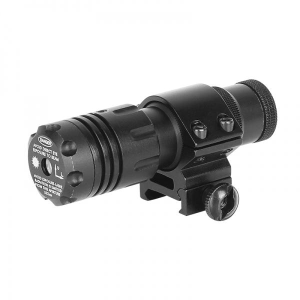 Výkonný laserový zaměřovač Sun Fire Beta červený 11/22 mm+ dálková tlaková spoušť