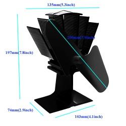 Ventilítor na kamna  rozměry