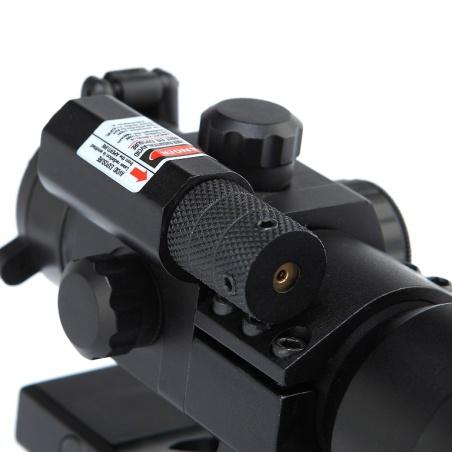Taktický tubusový kolimátor 1x30 s přísvitem s laserem