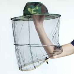 Maskáčový včelařský klobouk moskytiéra