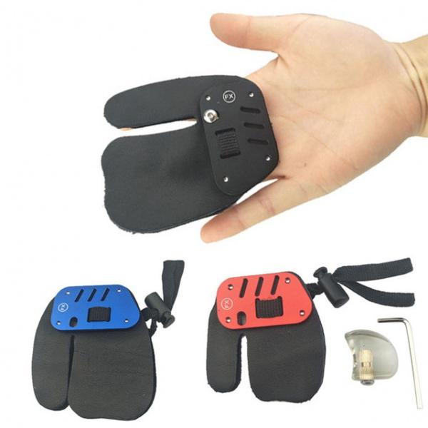 Chránič prstů na lukostřelbu s podpěrou na prst