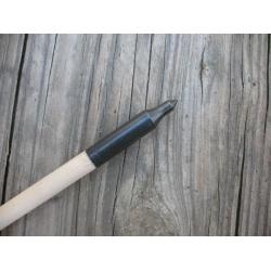 """Dřevěný šíp do luku 30"""" 8mm x 76cm plastové letky"""