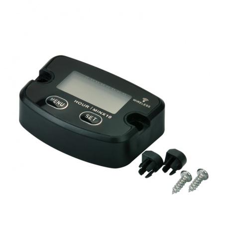 Bezdrátový měřič motohodin, vibrační, resetovatelný, voděodolný