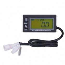 Multifunkční měřič motohodin, otáček, teploty, podsvícený, voděodolný (2)
