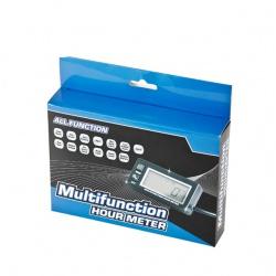 Multifunknčí měřič motohodin, otáček, napětí, podsvícený, voděodolný(5)