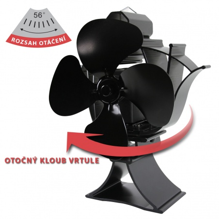 Ventilátor pro krby a kamna EKOVENT 85-320°C otočný